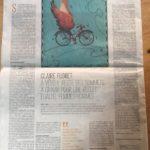 Aout 2020 -Mona Pantel et Idrissa Djepa Creutz, diplômé-es, participent à une tribune sur le cyclisme pratiqué par les femmes, dans le journal Le Monde